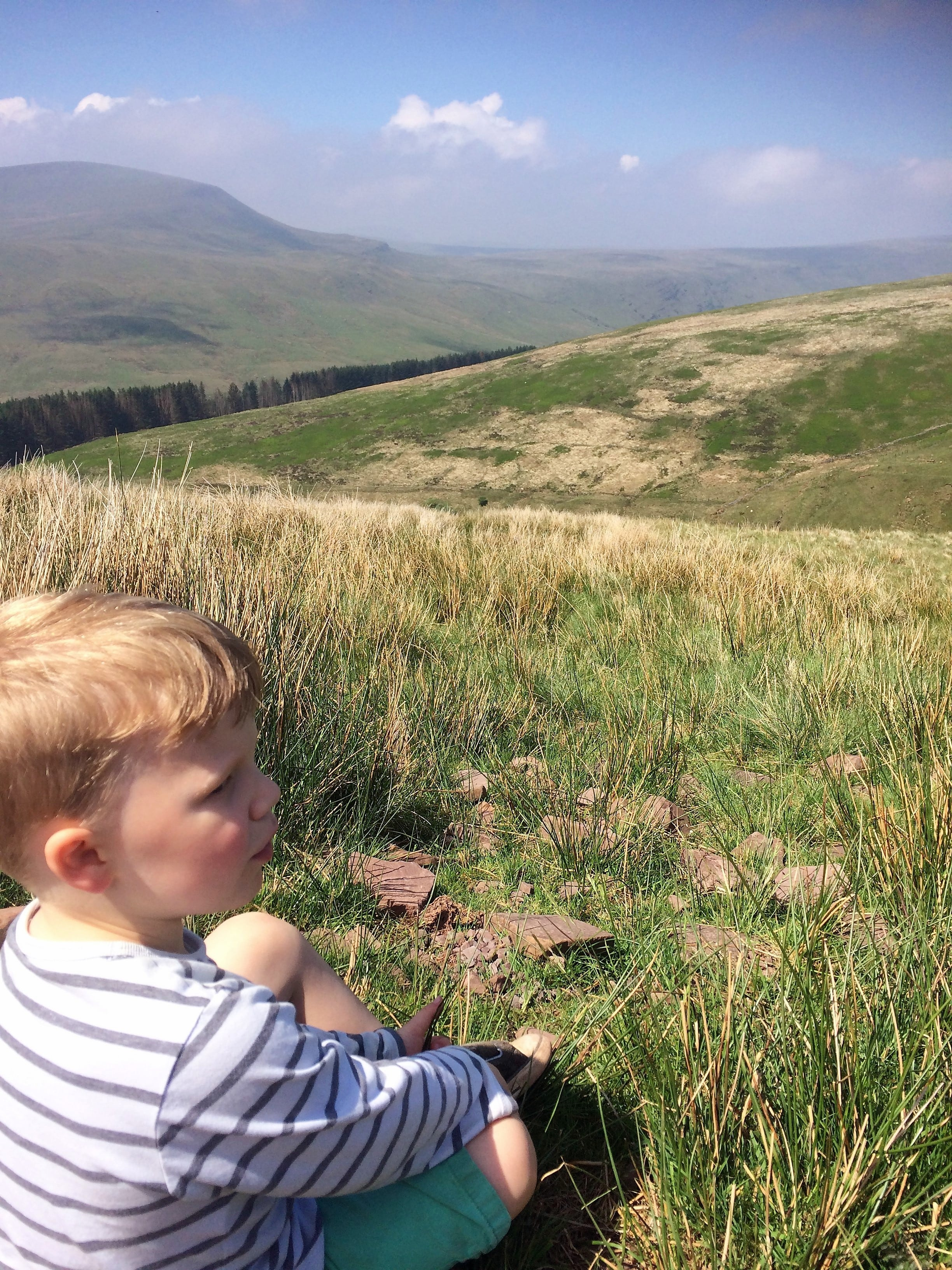 A moment of reflection at Pen y Fan