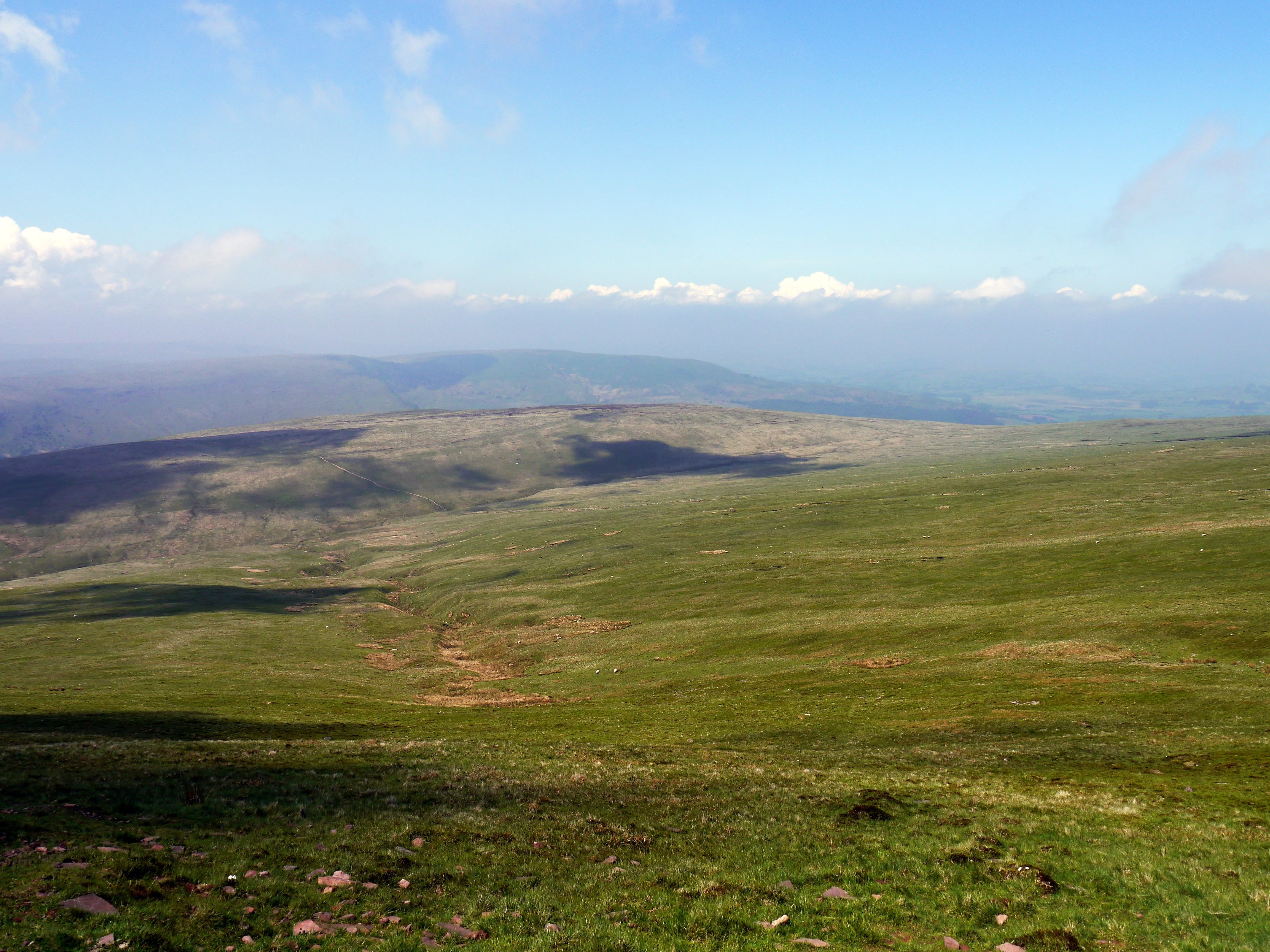 View over the Brecon Beacons from Pen y Fan