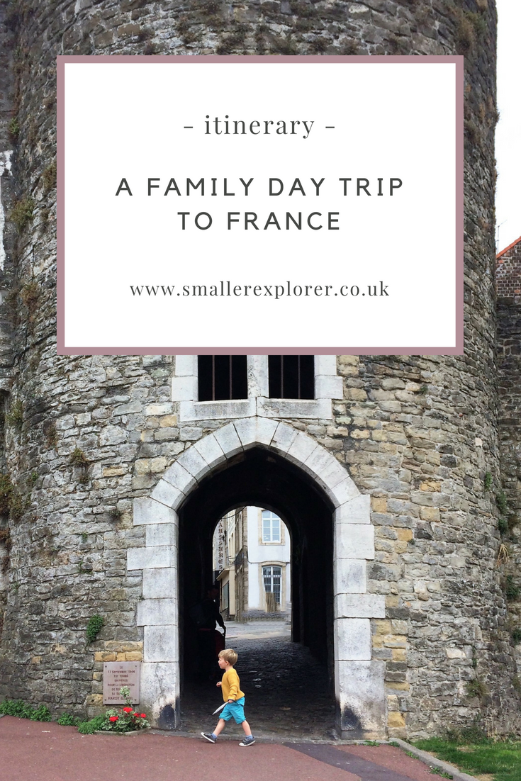 Family day trip to France