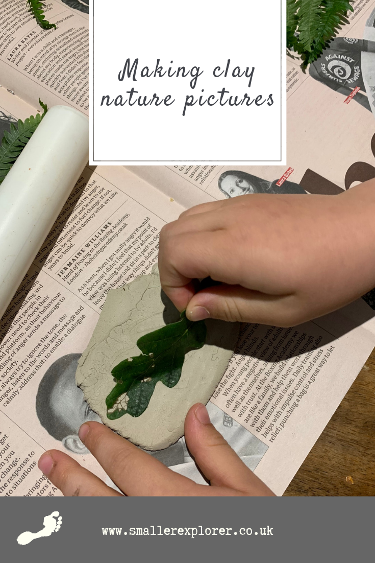 Using nature to make clay art