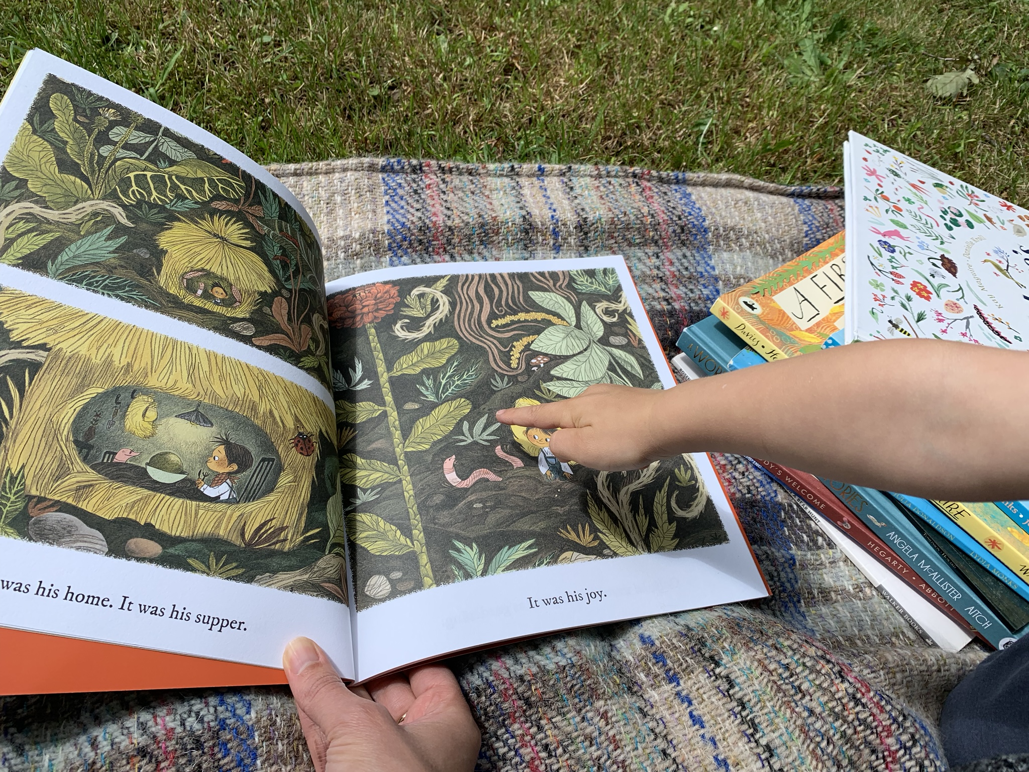 Nature books with kids